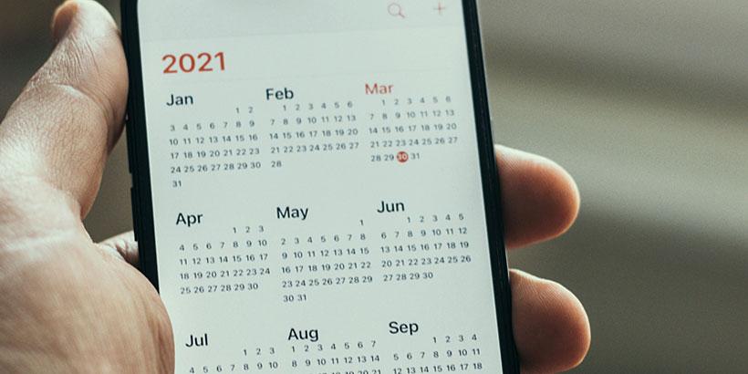 Kalender auf einem Smartphone